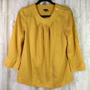 Talbots Yellow Pullover Blouse
